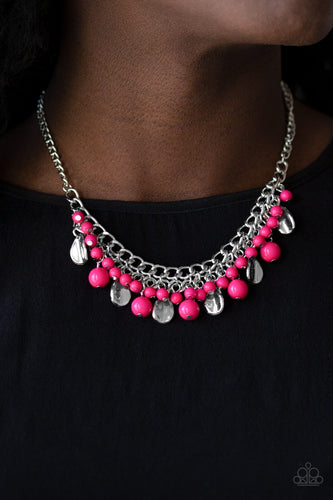Summer Showdown - pink - Paparazzi necklace