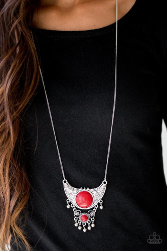 Summit Style - red - Paparazzi necklace