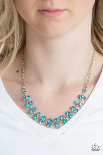 Super Starstruck-blue-Paparazzi necklace