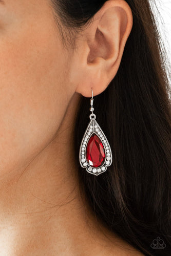 Superstar Stardom-red-Paparazzi earrings