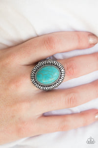Surfin Sand Dunes - blue - Paparazzi ring