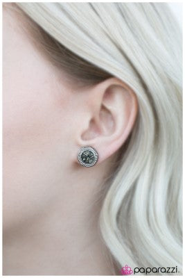 Sweet and Simple - Black - Paparazzi earrings