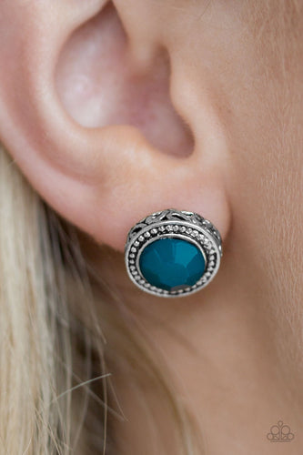 Sweet and Simple - blue - Paparazzi earrings