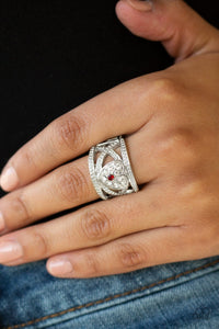Sweetly Sweetheart-red-Paparazzi ring