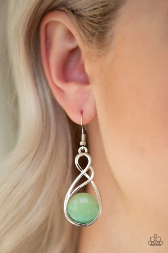 Swept Away - green - Paparazzi earrings