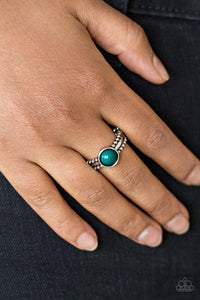 TREK and Field - green - Paparazzi ring