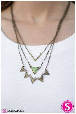 TRI-bal Style - Green - Paparazzi necklace
