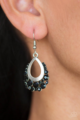 Table for Two - black - Paparazzi earrings