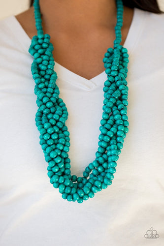 Tahiti Tropic-blue-Paparazzi necklace