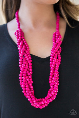 Tahiti Tropic-pink-Paparazzi necklace