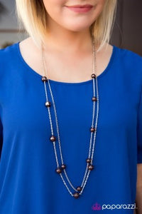 Take My Breath Away - brown - Paparazzi necklace