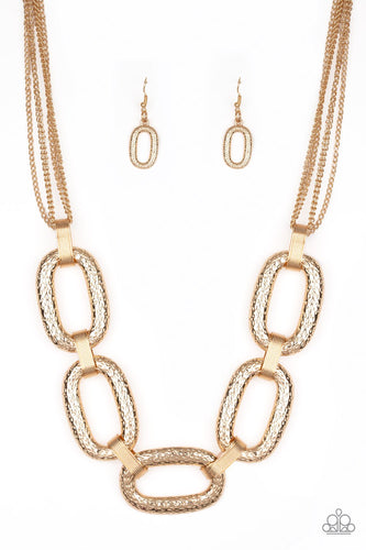 Take Charge-gold-Paparazzi necklace