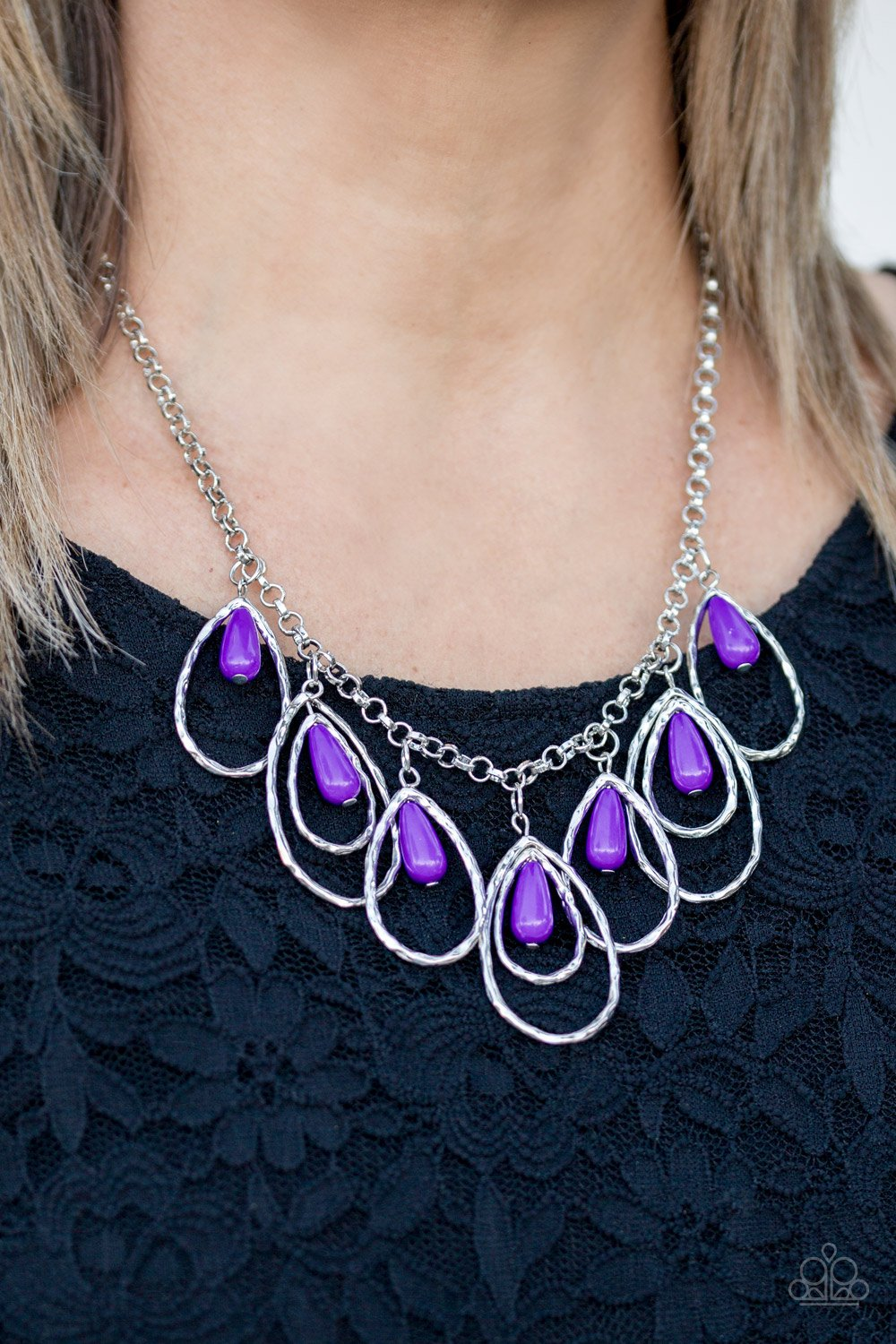 Tango Tempest-purple-Paparazzi necklace