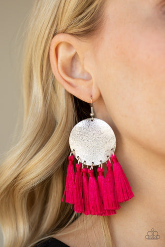 Tassel Tribute-pink-Paparazzi earrings