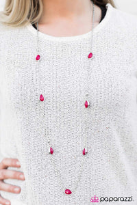 Teardrop Diva - Pink - Paparazzi necklace