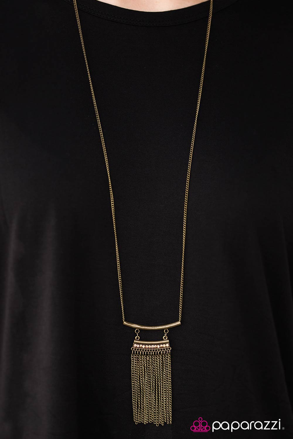 Tempting Temptress - Brass - Paparazzi necklace