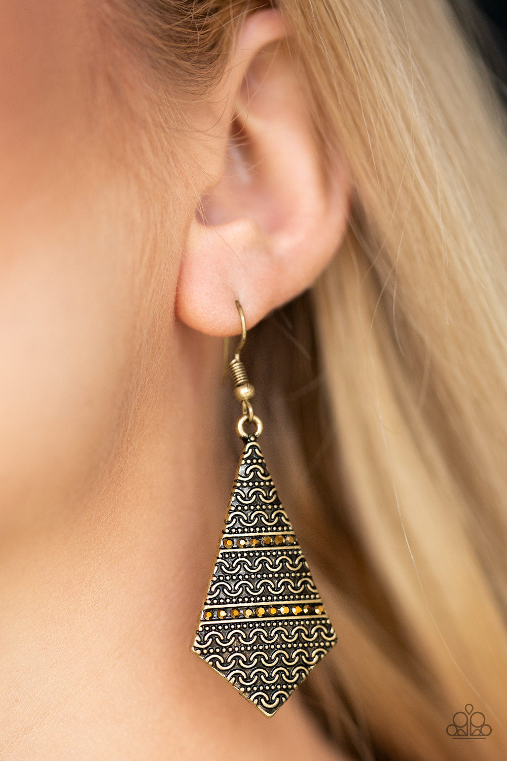 Terra Trending - brass - Paparazzi earrings