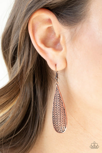 Terra Tears-copper-Paparazzi earrings