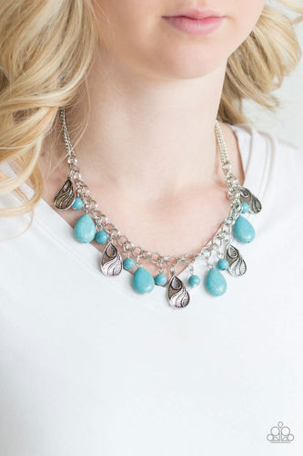 Terra Tranquility-blue-Paparazzi necklace