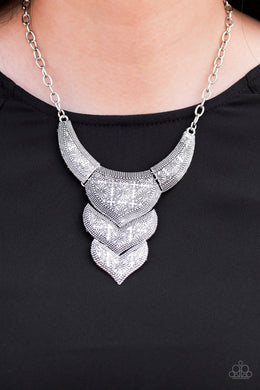 Texas Temptress-silver-Paparazzi necklace