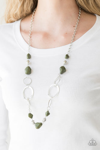 That's TERRA-ific - green - Paparazzi necklace