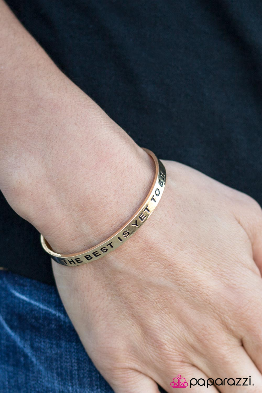 The Best Is Yet To Be - Gold - Paparazzi bracelet