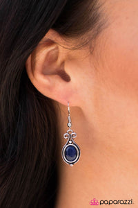 The Color of Money - blue - Paparazzi earrings