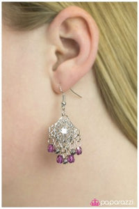 The Dreamer - Purple - Paparazzi earrings