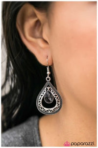 The First Kiss - Silver - Paparazzi earrings