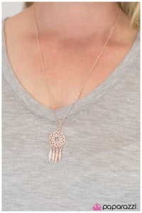 The Girl of Your Dreams - Rose Gold - Paparazzi necklace