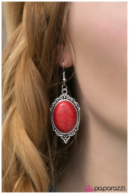 The Grand Ole Opre - red - Paparazzi earrings