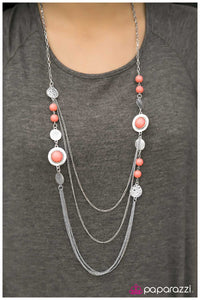 The Great Expedition - Orange - Paparazzi necklace