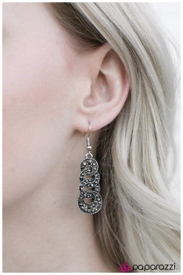 The Imperial Ball - Silver - Paparazzi earrings