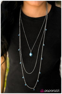 The Night Life - Blue - Paparazzi necklace