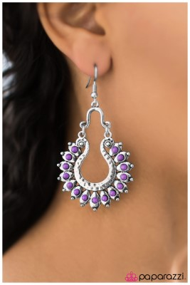 The Old West - Purple - Paparazzi earrings