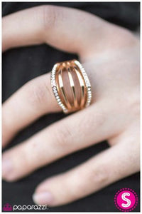 The Point of No Return - gold - Paparazzi ring