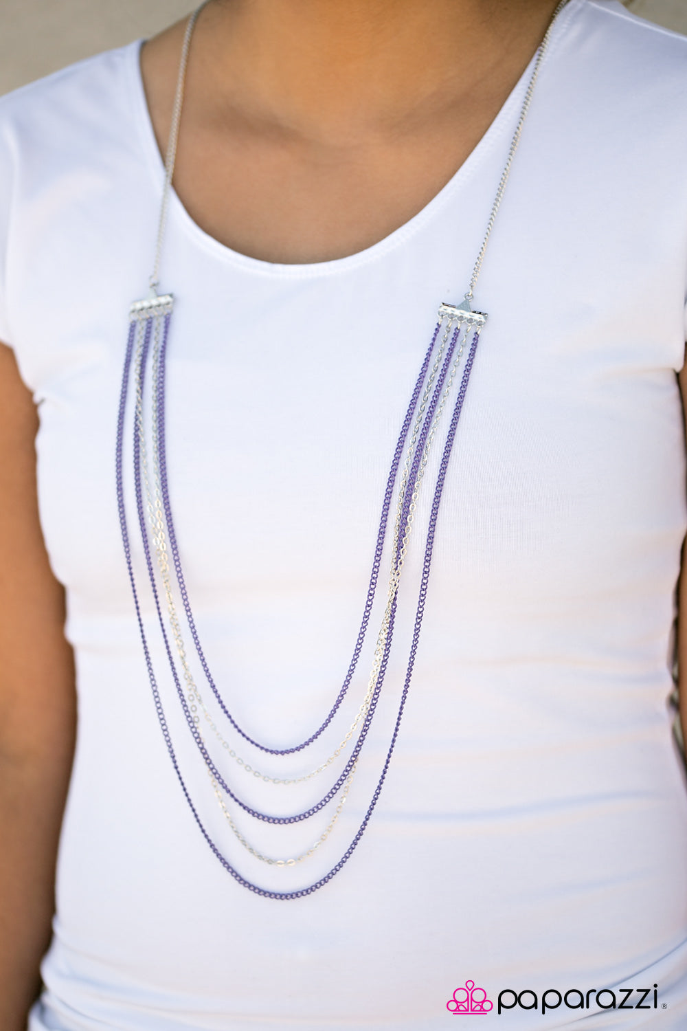The Rebel In Me - Purple - Paparazzi necklace