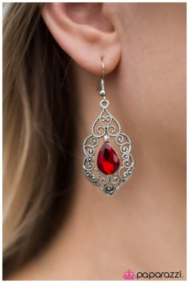 The Selection - Red - Paparazzi earrings