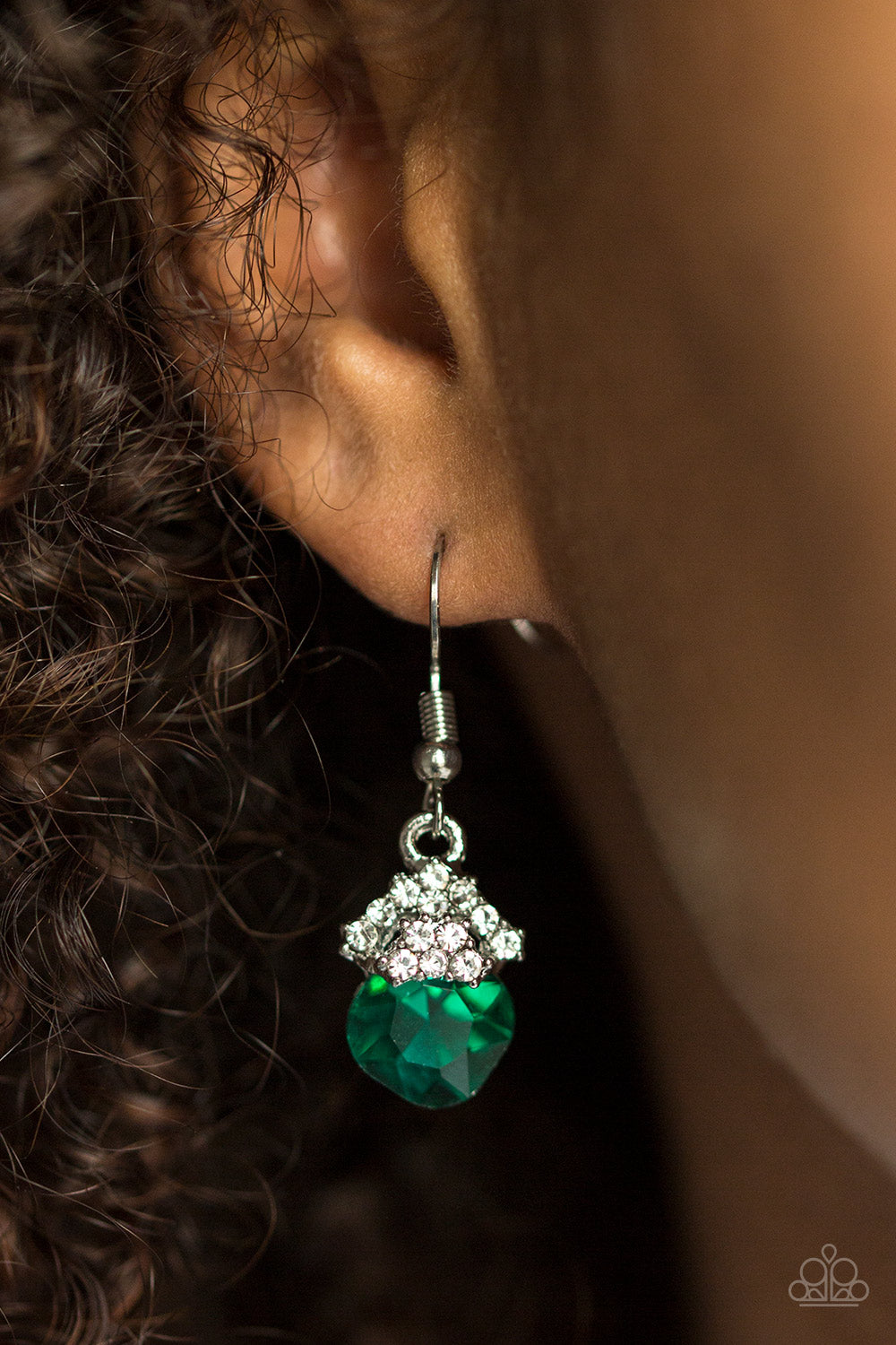 The Show Must Glow On! - green - Paparazzi earrings