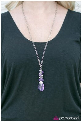 The Sorcerers Stone - purple - Paparazzi necklace