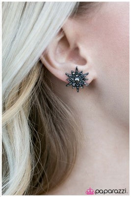 The Star of The Show - Silver - Paparazzi earrings