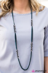 The World Series - blue - Paparazzi necklace