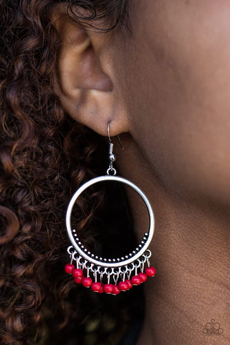 The World is a Jungle - red - Paparazzi earrings