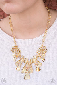 The Sands of Time - Gold - Paparazzi necklace