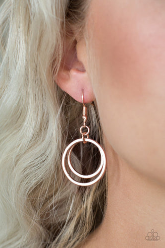 The GLEAM of my Dreams - rose gold - Paparazzi earrings