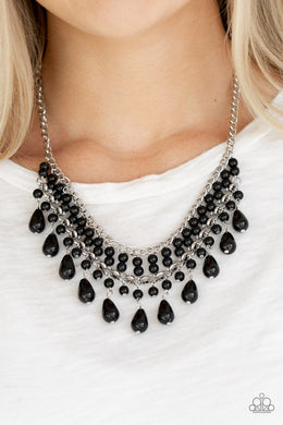 The Guest List-black-Paparazzi necklace
