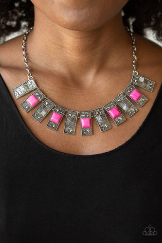 The MANE Contender-pink-Paparazzi necklace