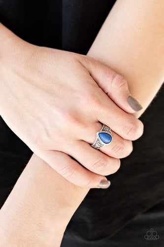 The ZEST of Intentions - blue - Paparazzi ring