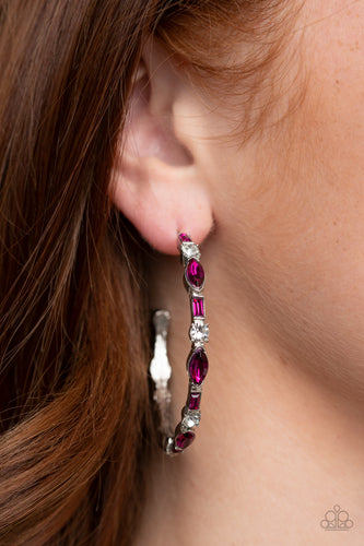 There Goes the Neighborhood - pink - Paparazzi earrings