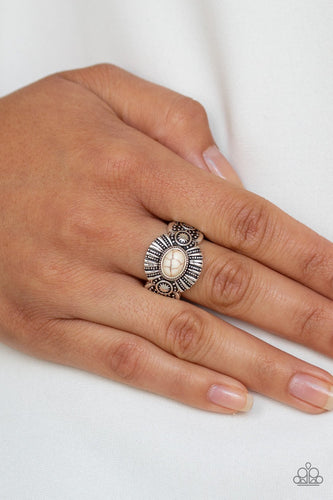 Thirst Quencher-white-Paparazzi ring